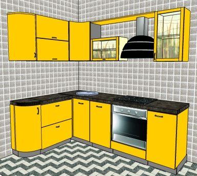 Малогабаритная кухня 6 кв.м: примеры